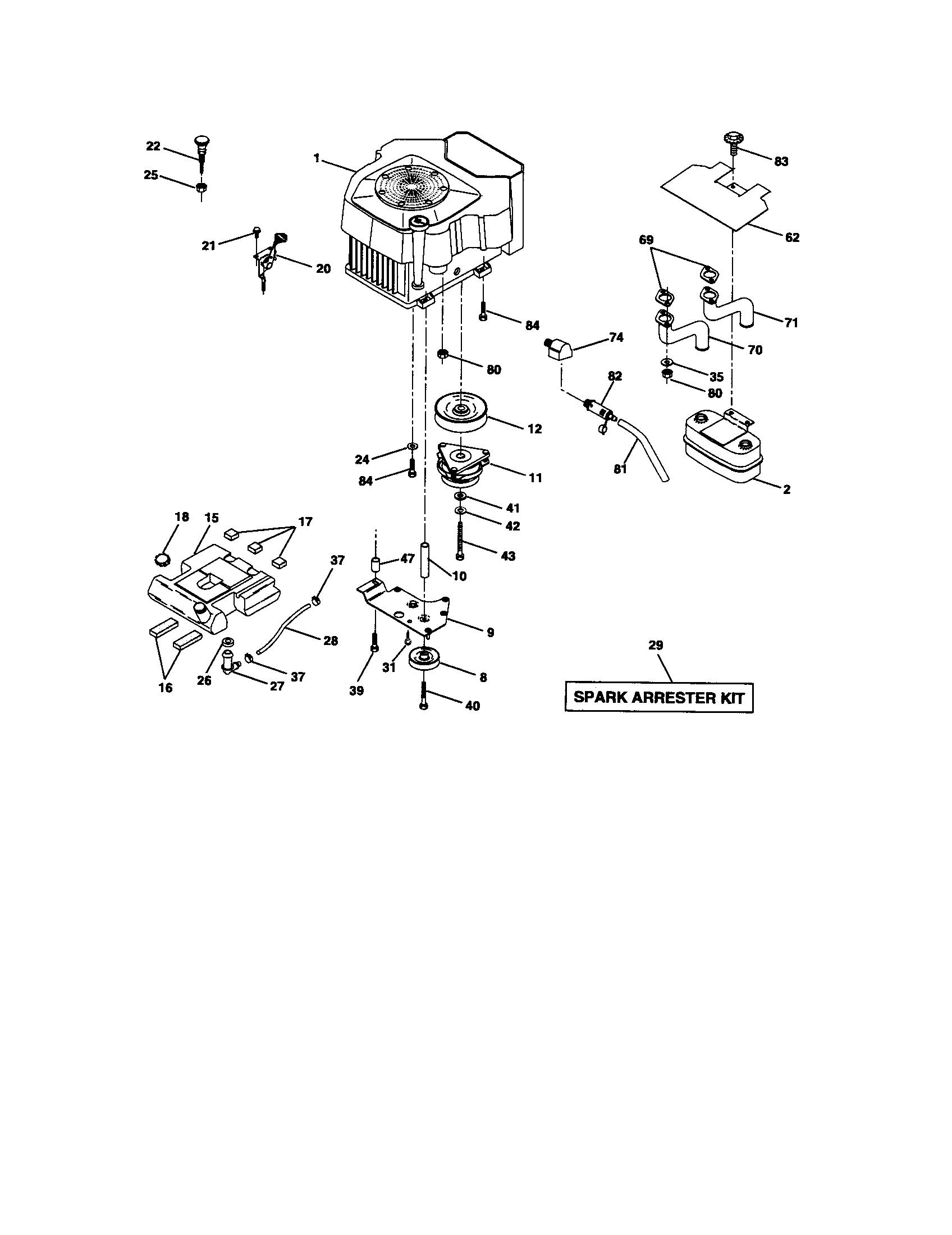 Craftsman lawn tractor parts model 917275021 sears partsdirect
