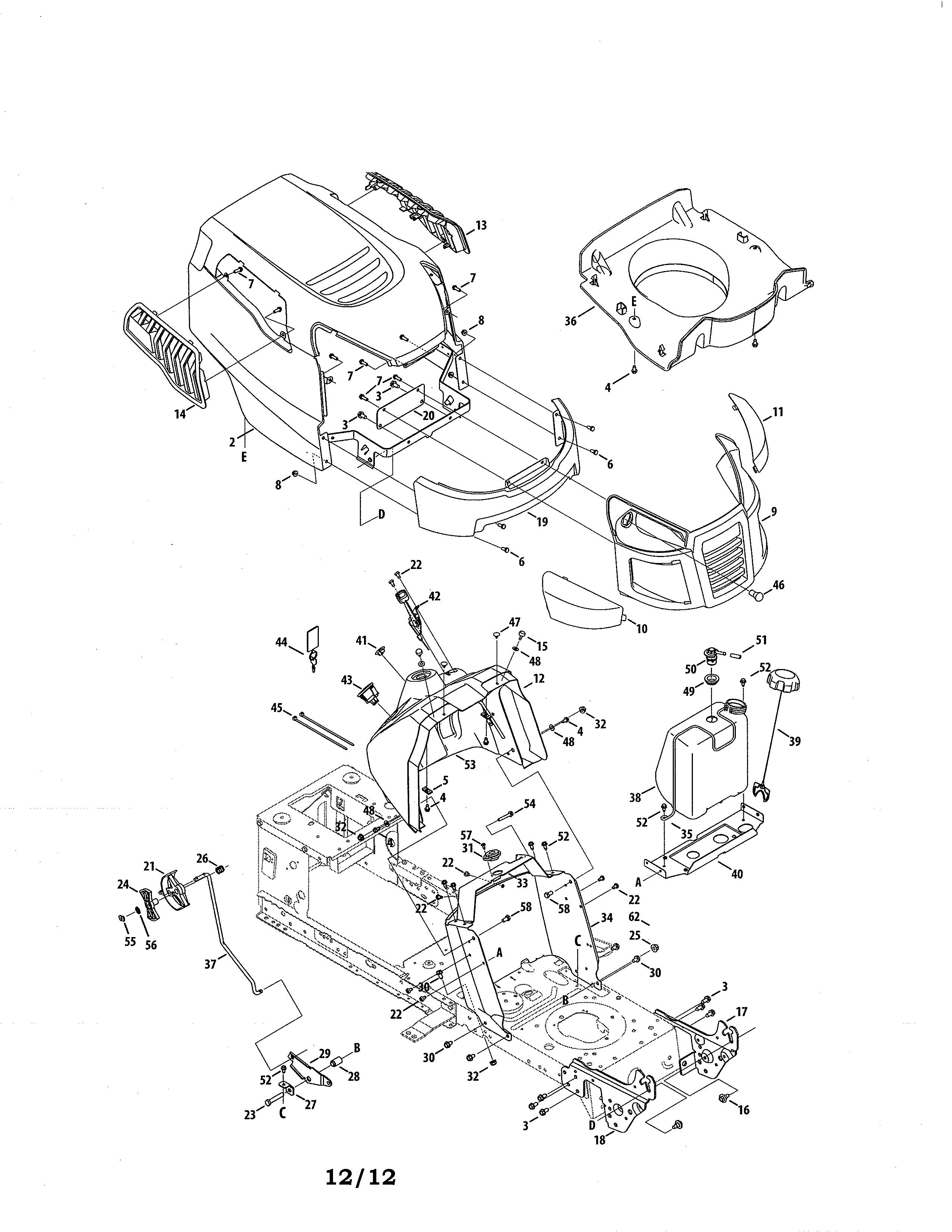 Craftsman model 247288820 lawn tractor genuine parts