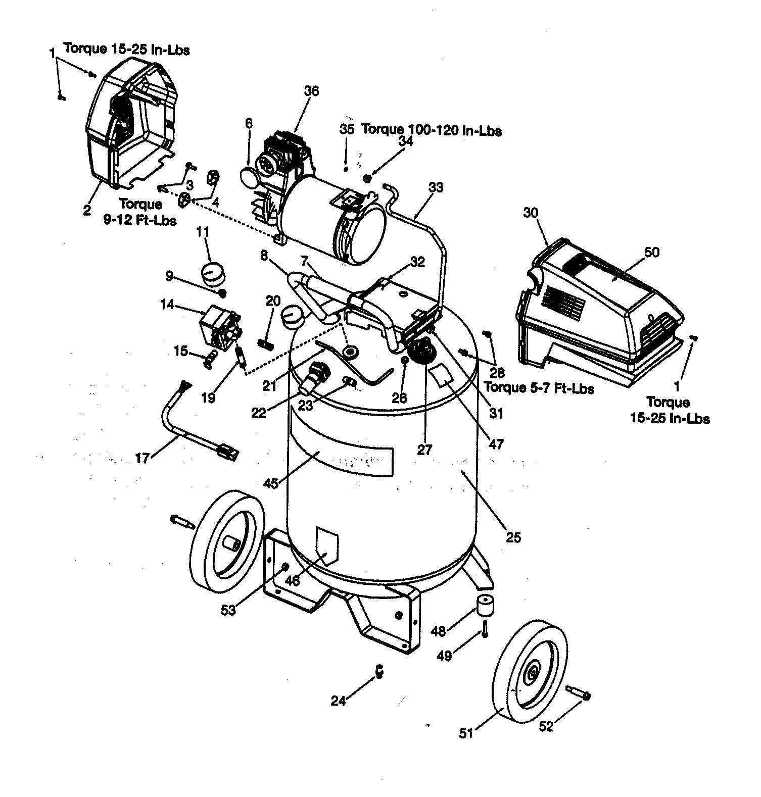Craftsman air pressor parts model 919165511 sears partsdirect