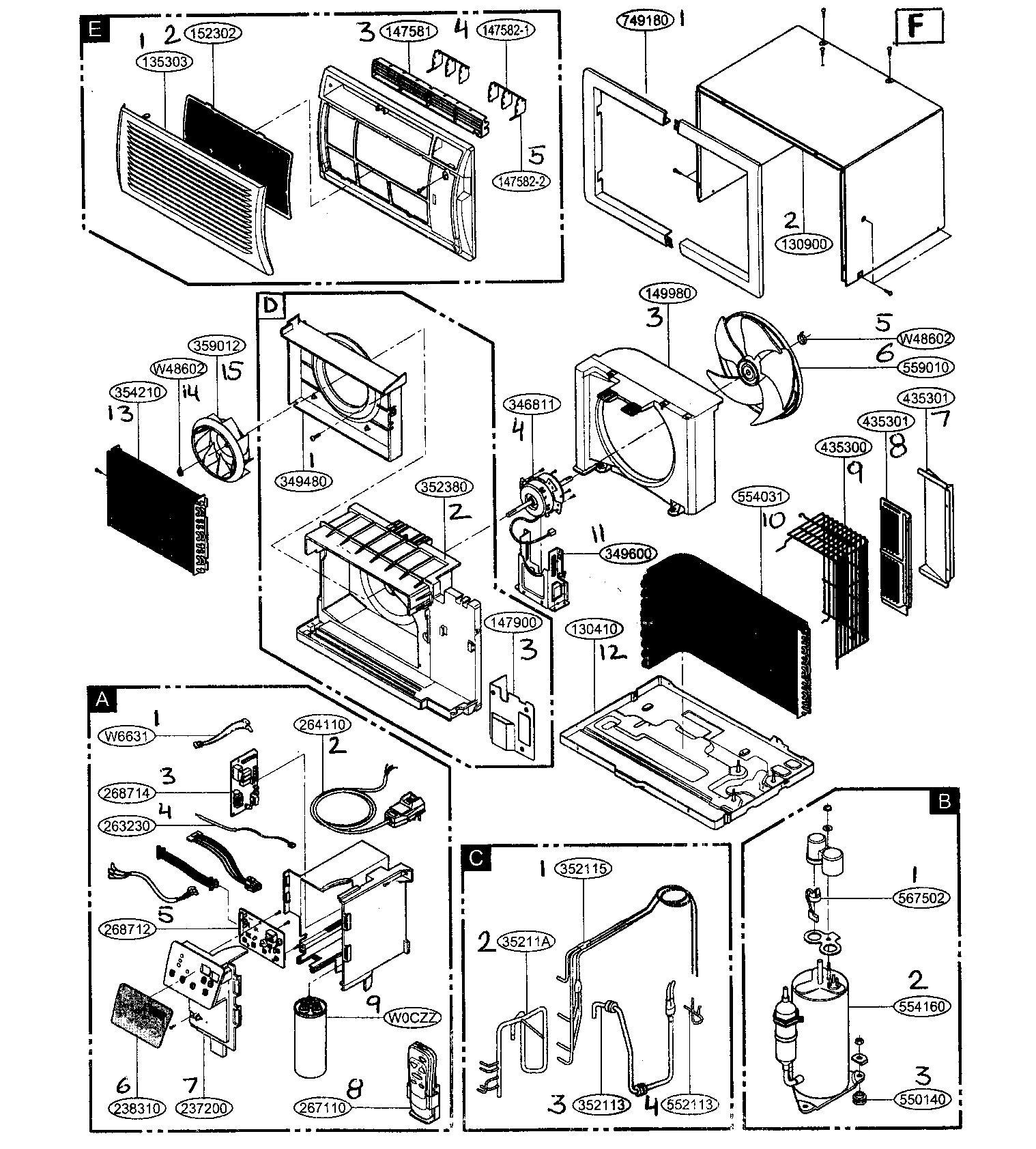 Parts of a central air conditioner diagram hephh coolers