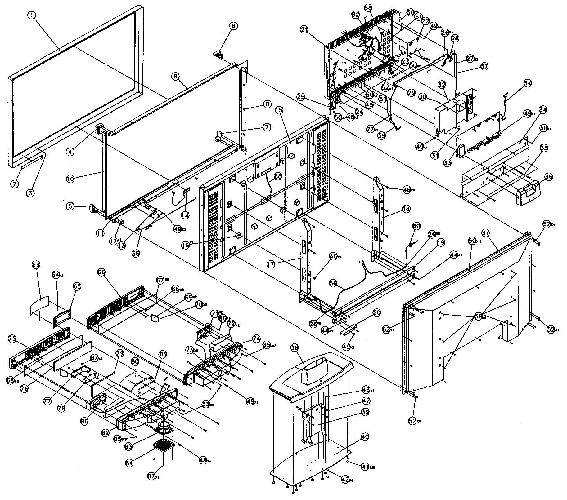 Vizio model gv47lfhdtv10a lcd television genuine parts