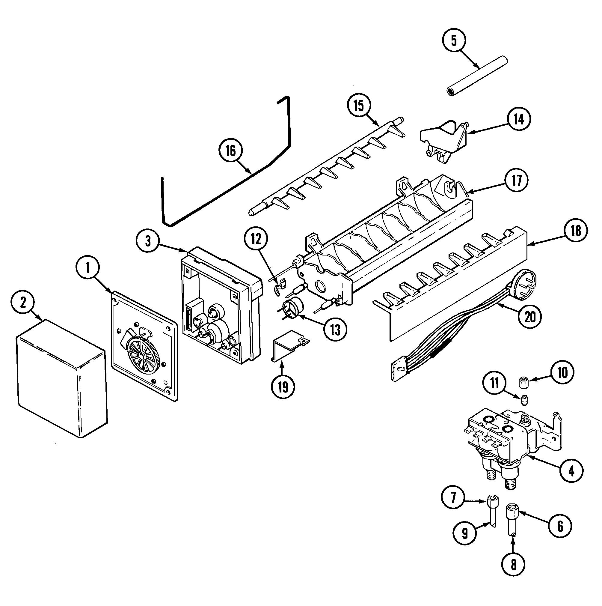Maytag model gs22b6c3ev side by side refrigerator genuine parts