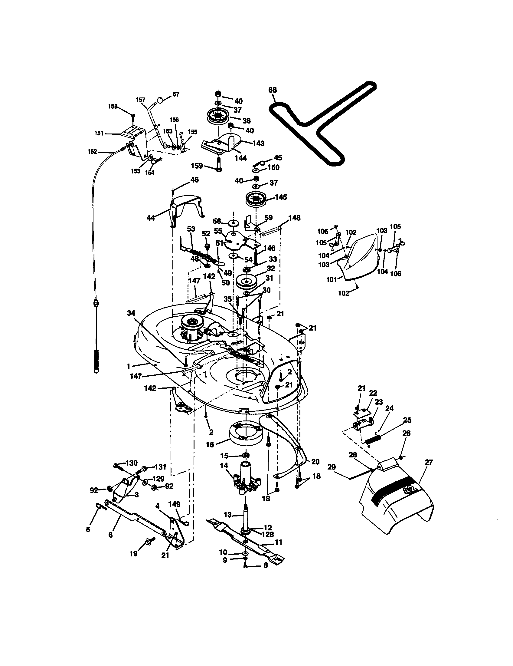 Schematic diagram diagram and parts list for craftsman riding mower craftsman model 917270671 lawn tractor genuine parts rh searspartsdirect at