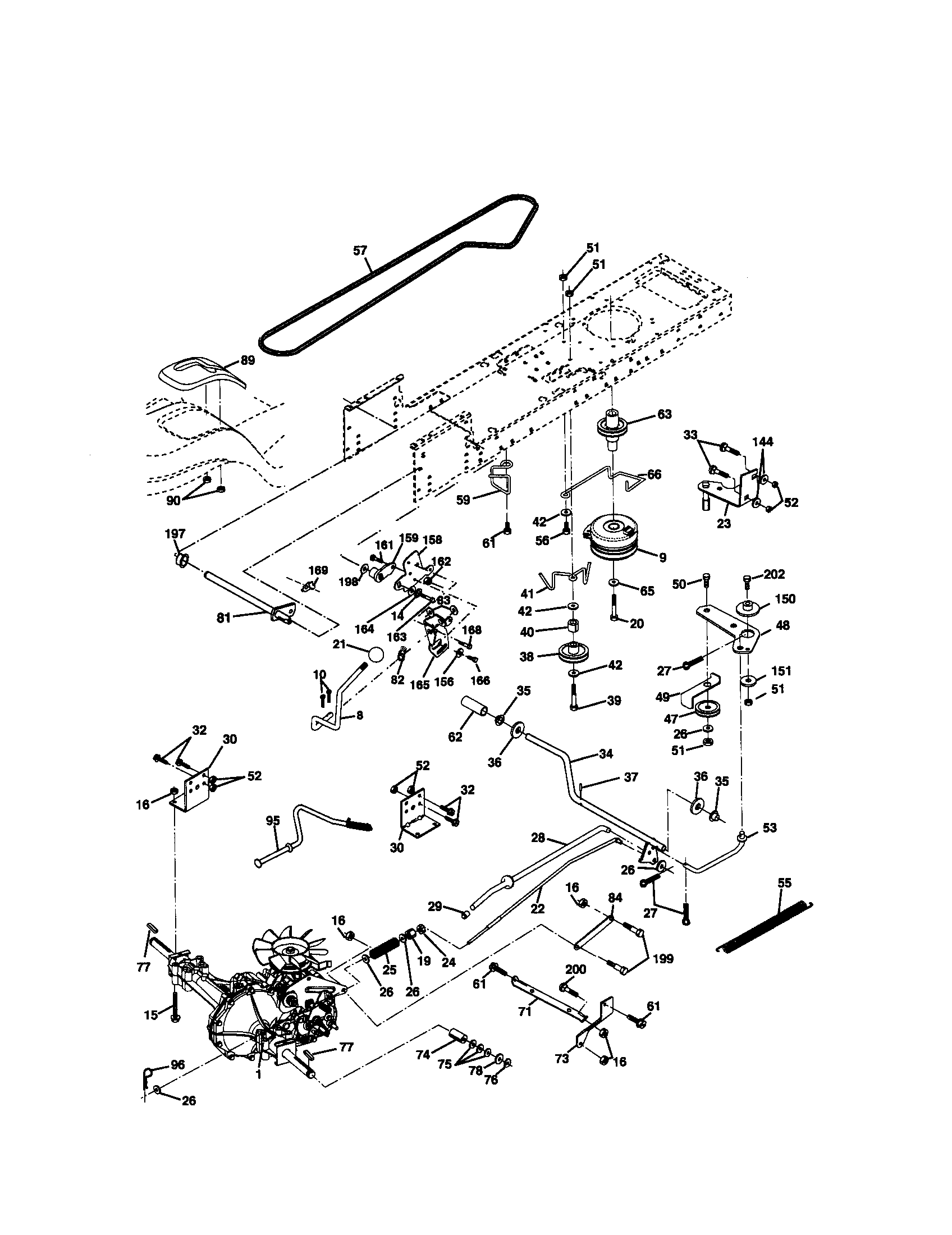Craftsman lawn tractor parts model 917272220 sears partsdirect on kohler 15 5 engine diagram