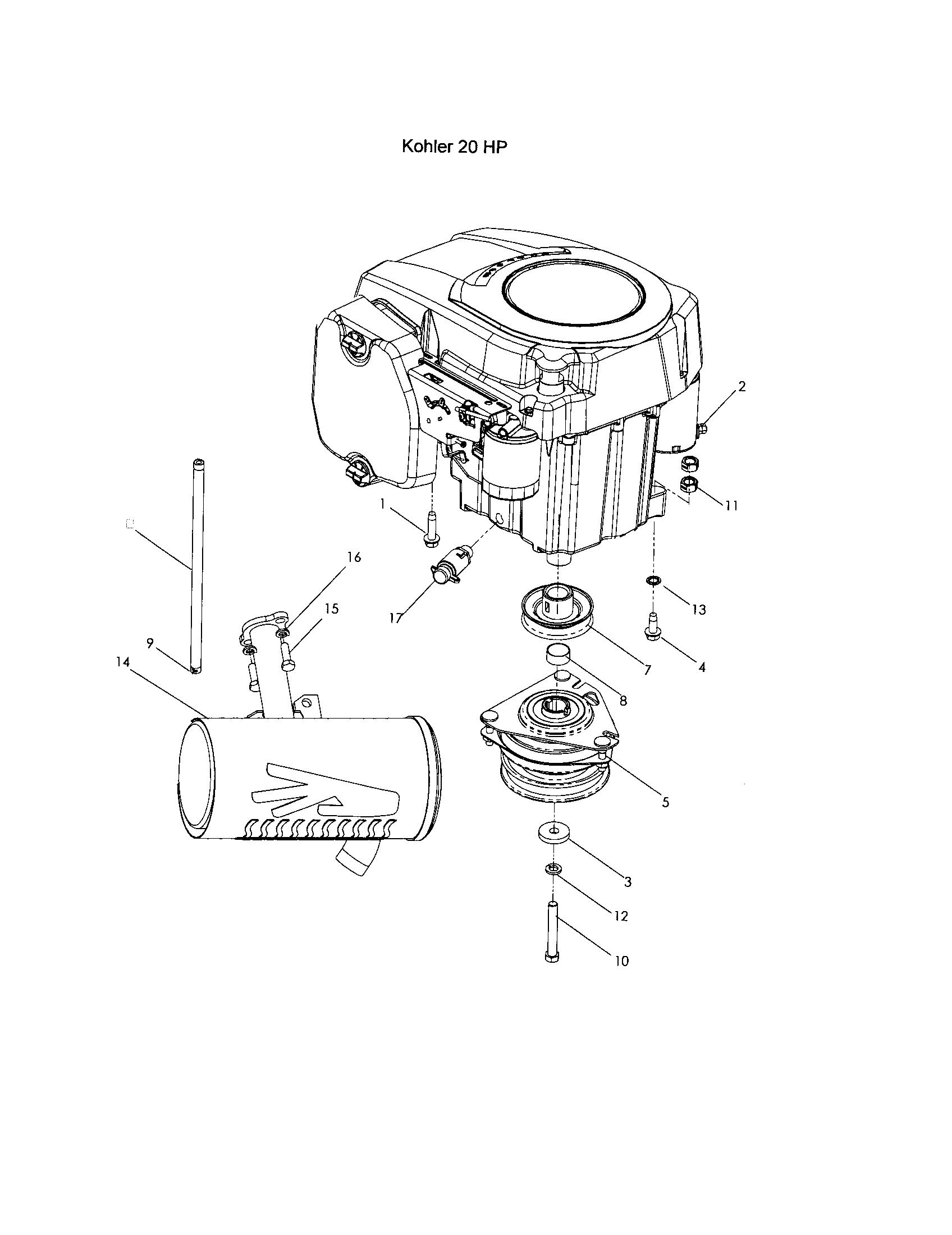 Photos of kohler motor parts