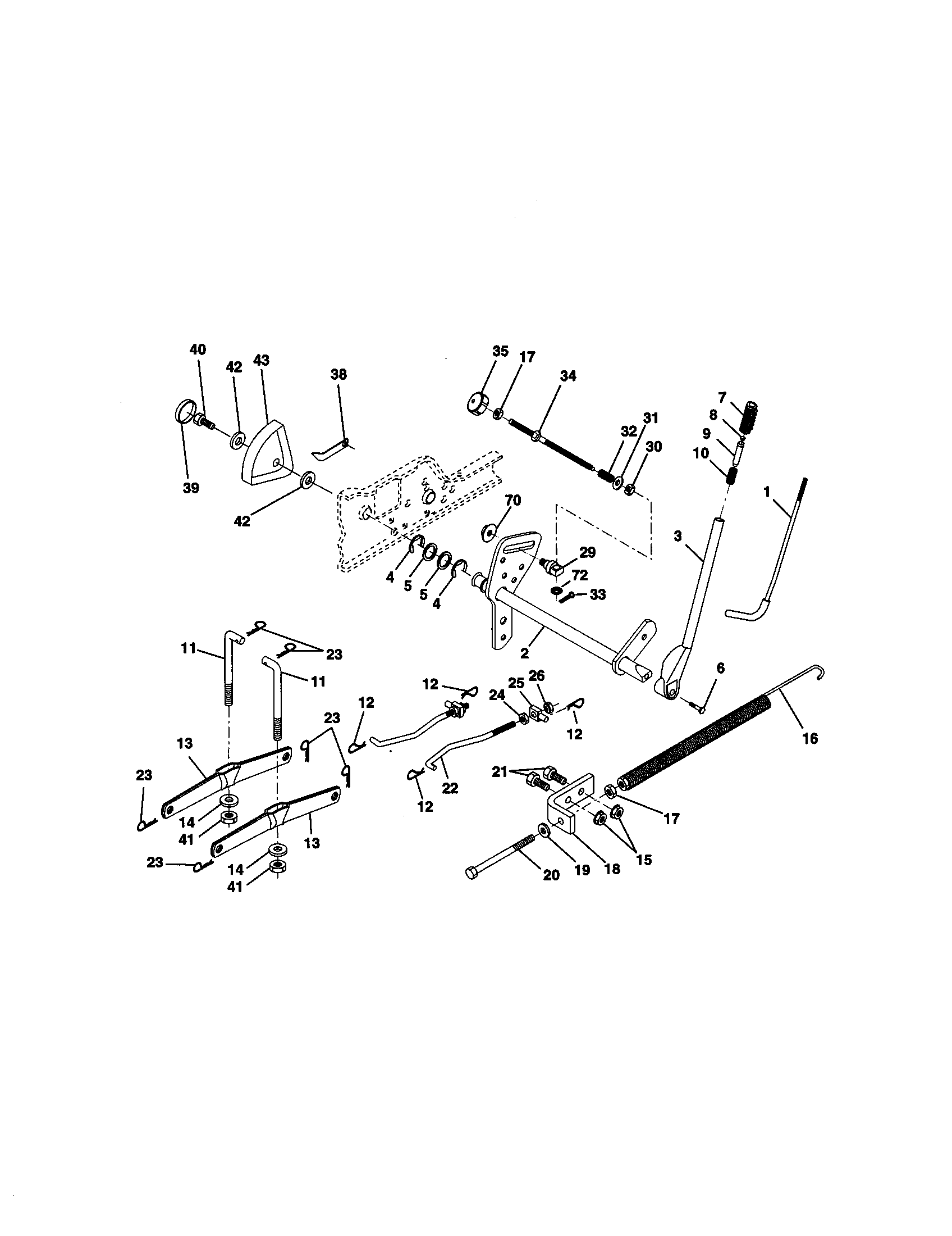 Craftsman tractor lift assembly parts