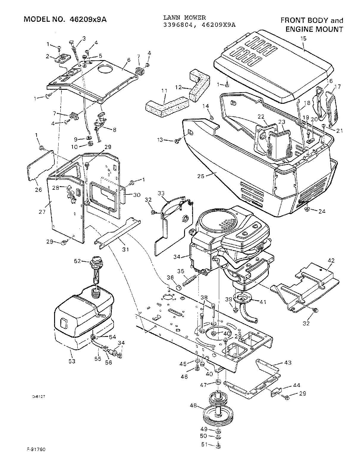 Contemporary electrical circuit diagram murray lawn mower parts model 46209x9a sears partsdirect