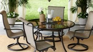 Garden Oasis Providence 5 Piece Swivel Dining Set