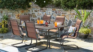 Sutton Rowe Riverton 7 Pc Slat Top Outdoor Dining Set
