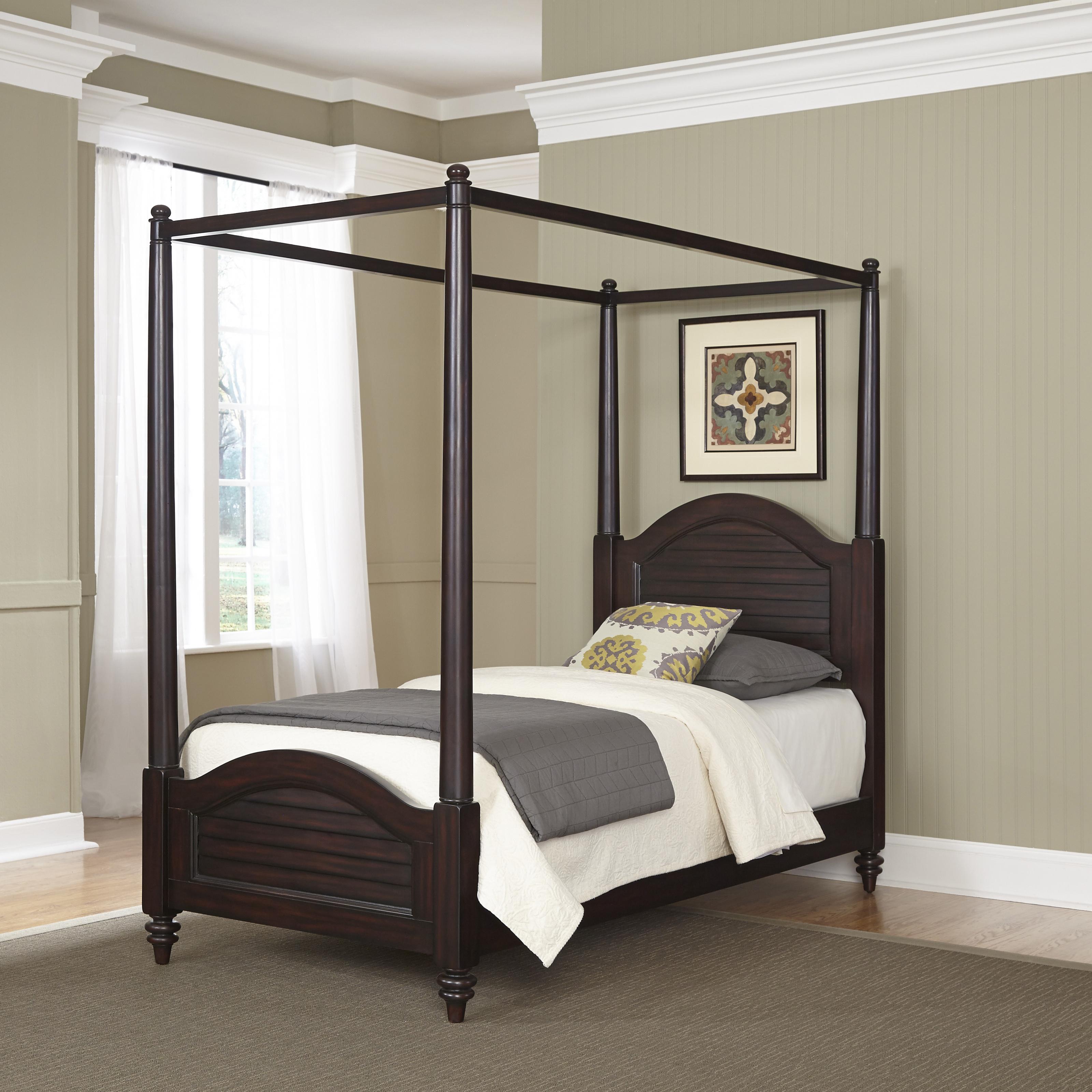 Home Styles Bermuda Espresso Twin Canopy Bed