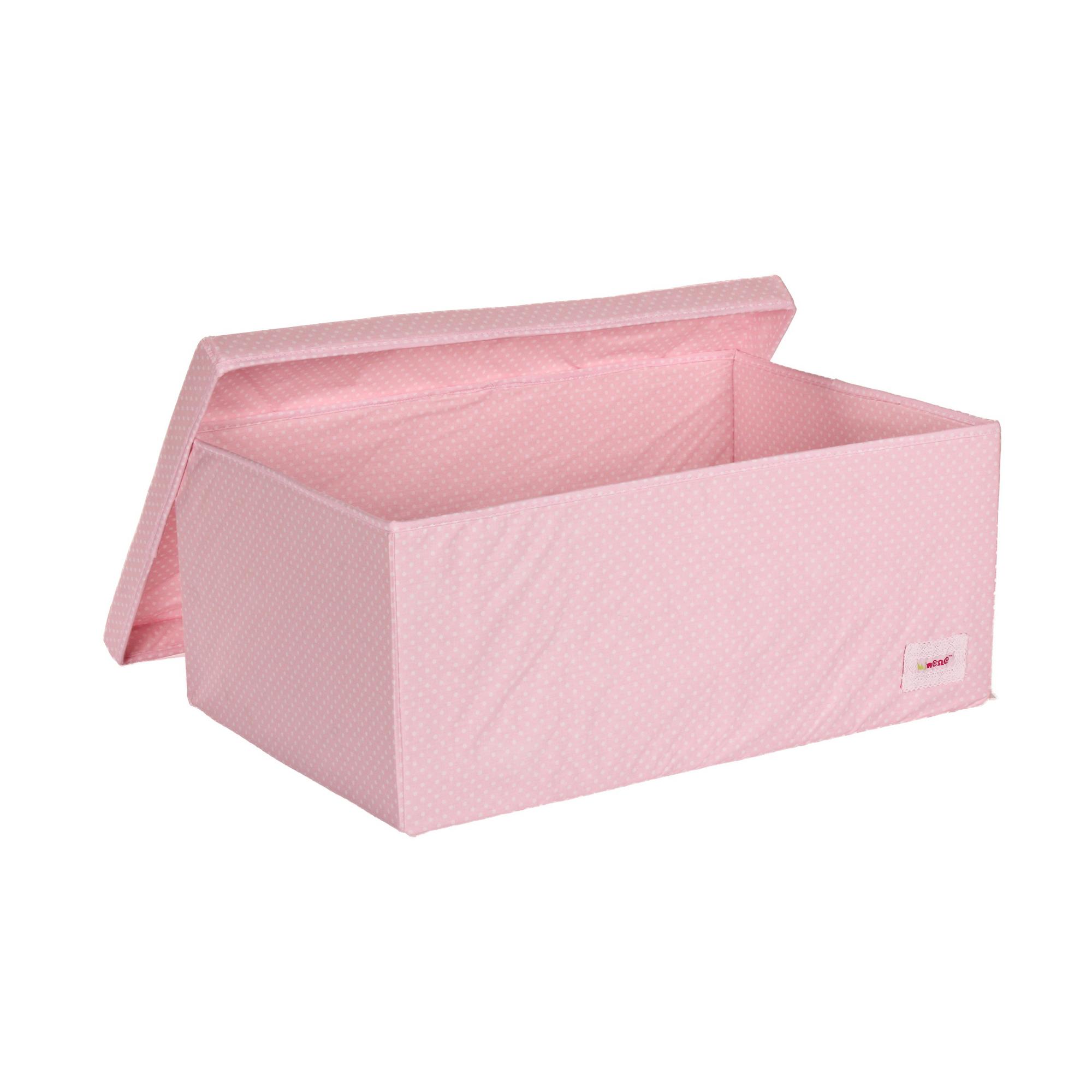 Minene Big Storage Box Pink With Polka Dots