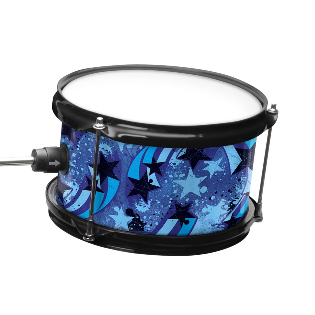 First Act Discovery Jr  Drum Set   Designer Blue Swirls Stars First Act Discovery First Act Discovery Jr  Drum Set   Designer Blue Swirls  Stars 3