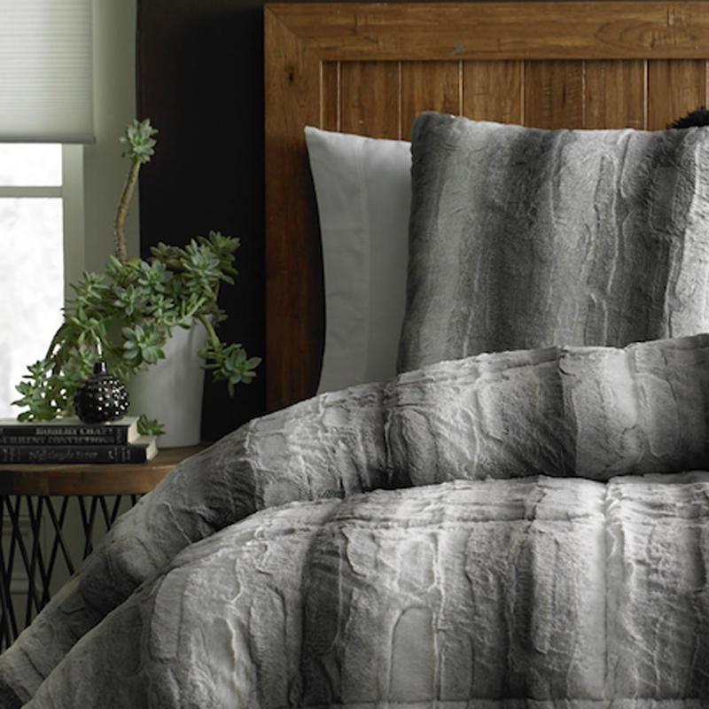 Cannon Fur Comforter Grey Sears