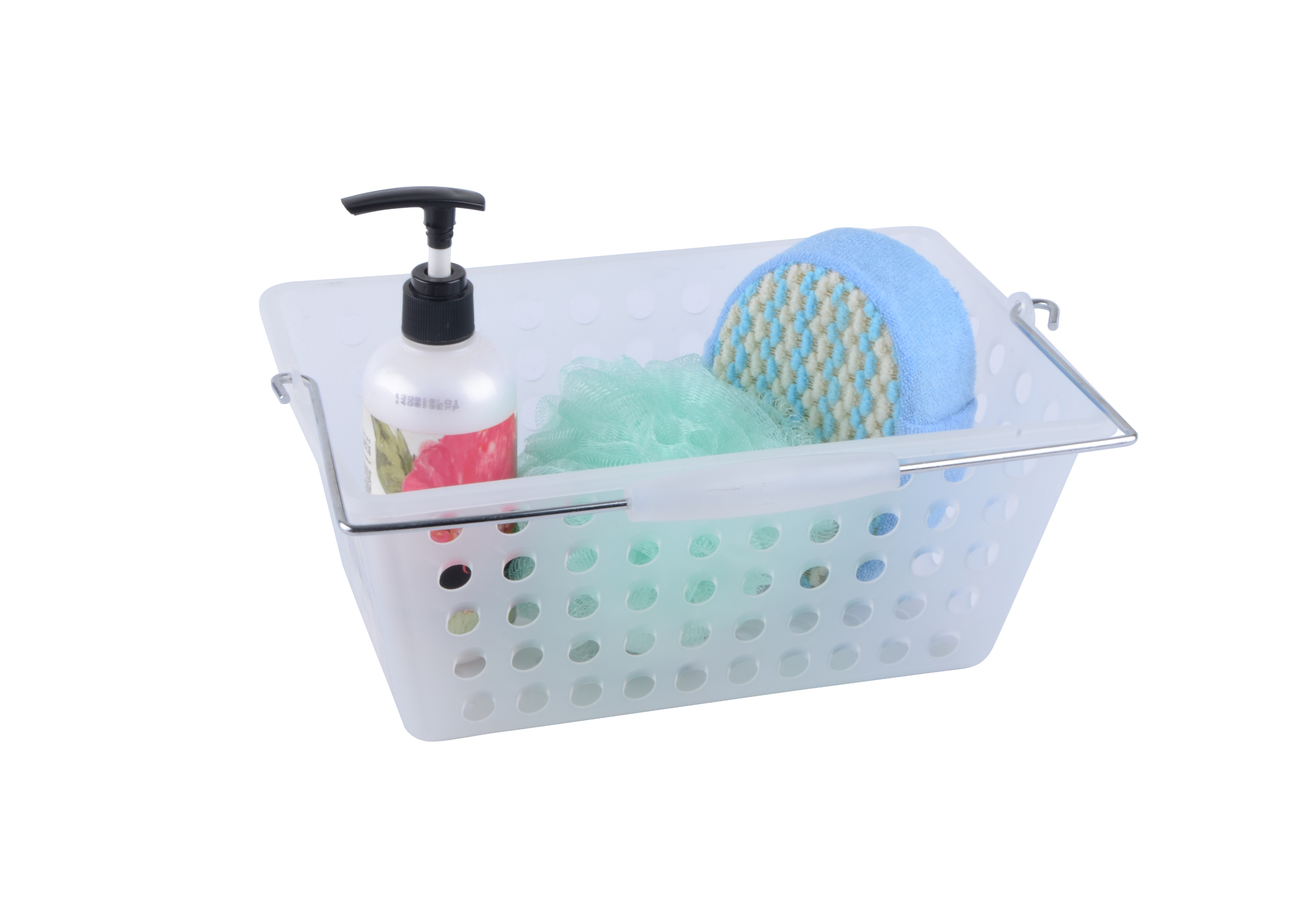 Clear Plastic Shower Caddy With Handle