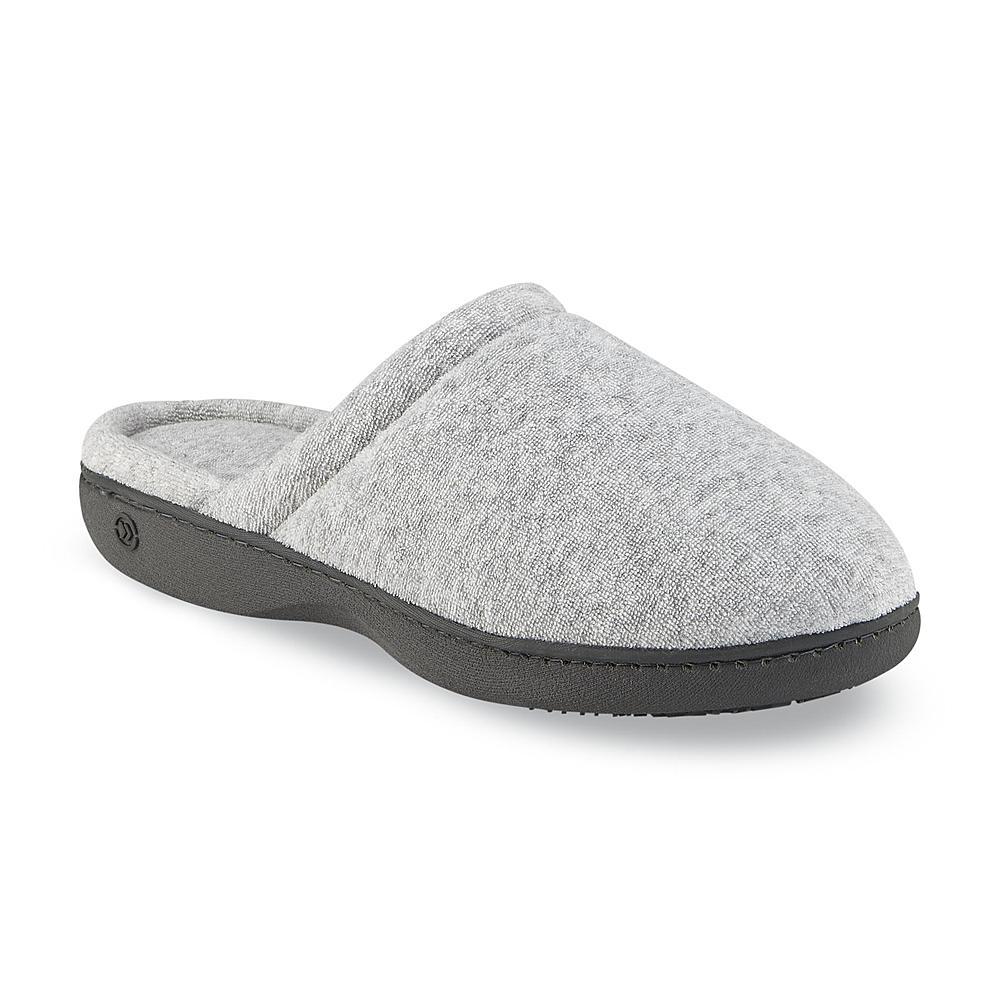 Isotoner Women's Terry Secret Sole Clog Slipper - Gray