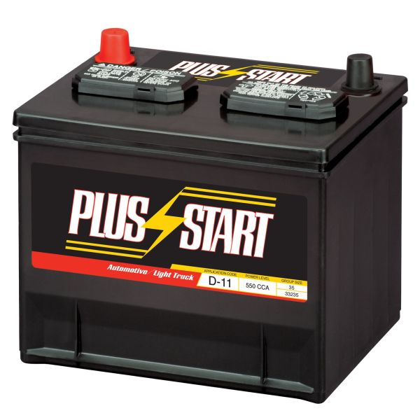 Plus Start Automotive Battery   Group Size 35  Price with Exchange