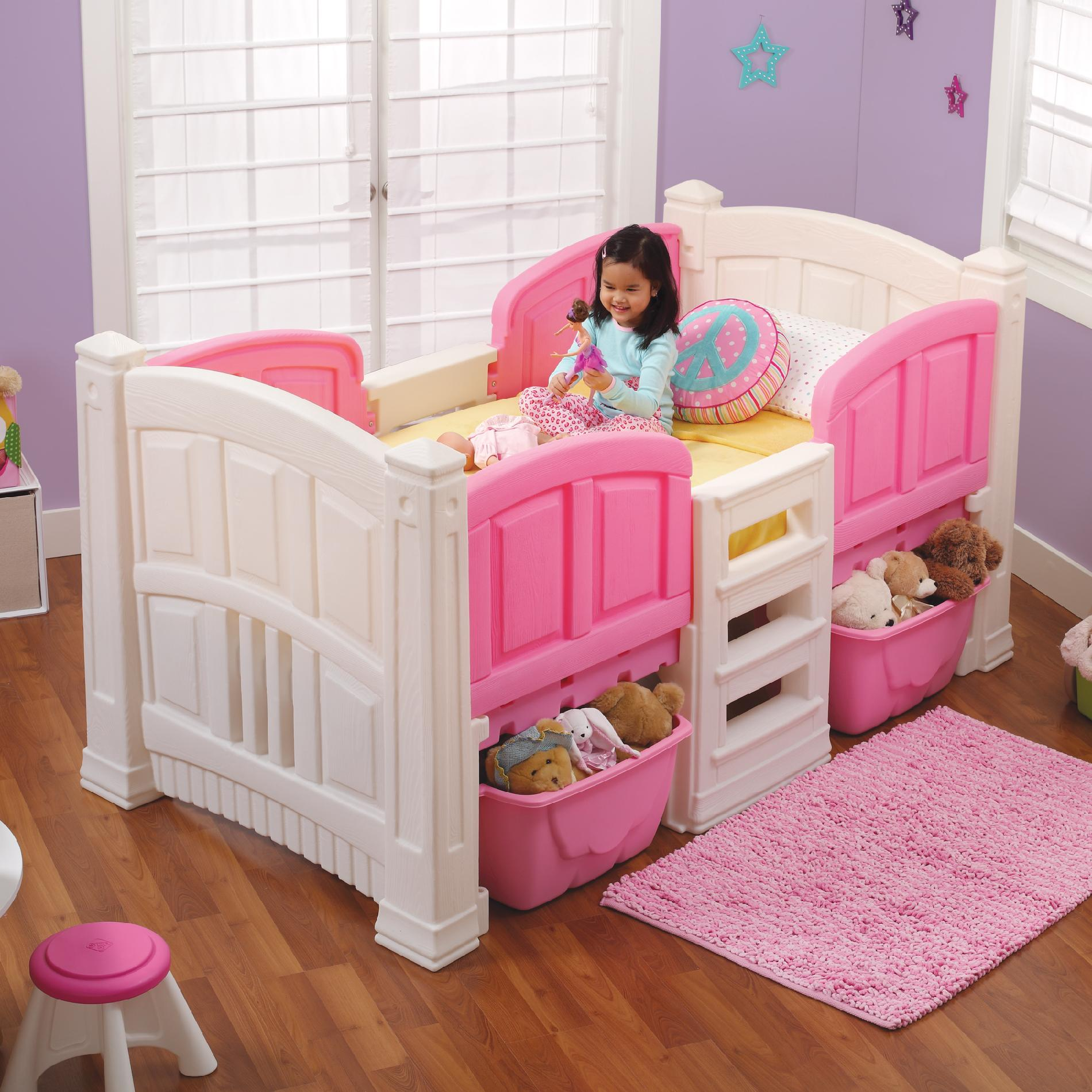 Step 2 Girl S Loft Amp Storage Twin Bed Baby Toddler
