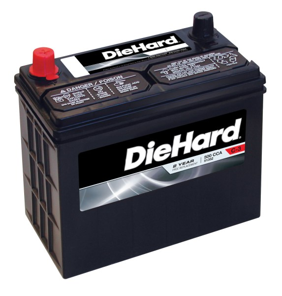 DieHard   51352   Automotive Battery   Group Size JC 51R  Price with     DieHard Automotive Battery   Group Size JC 51R  Price with Exchange