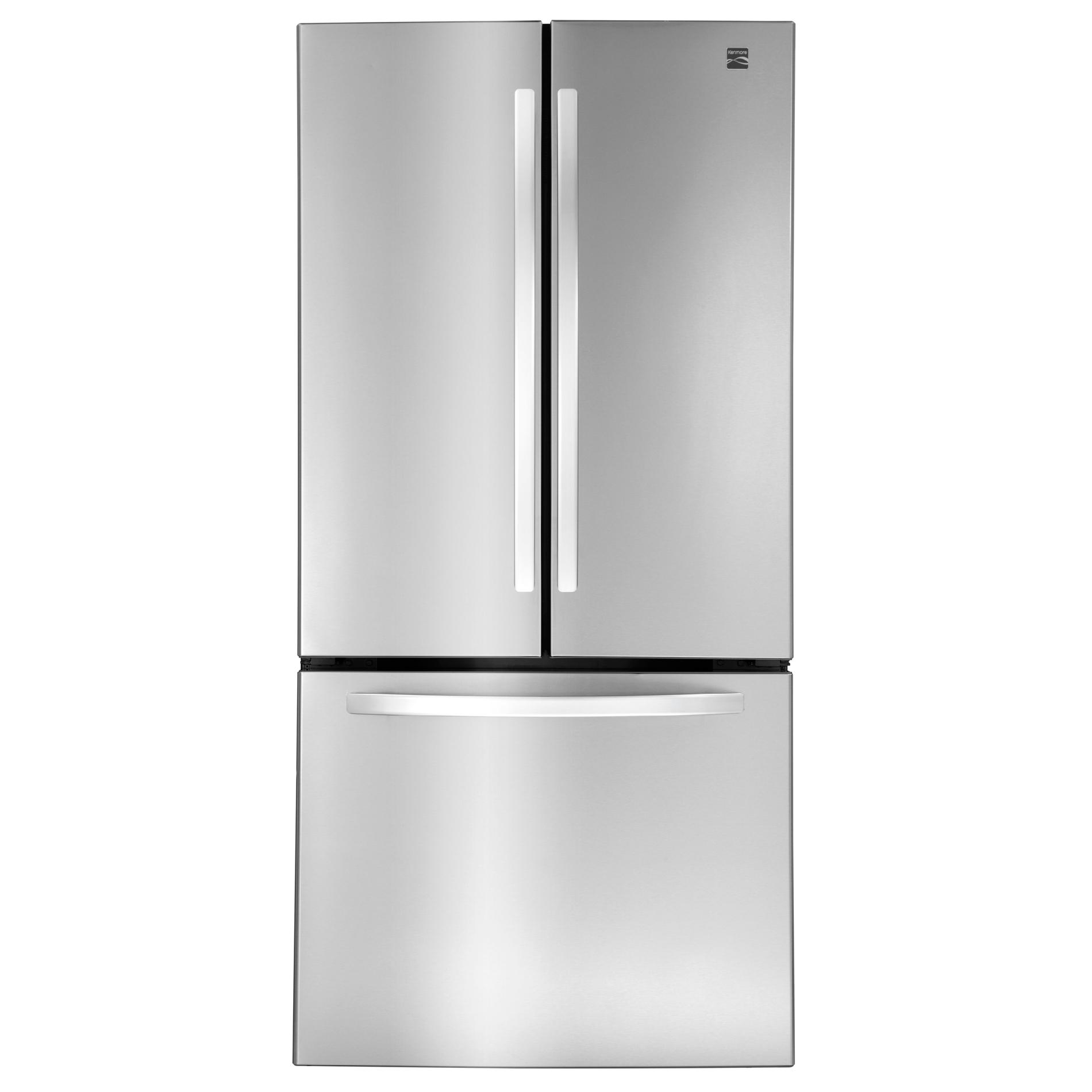 Kenmore Elite 25 0 Cu Ft French Door Bottom Freezer Refrigerator Stainless Steel