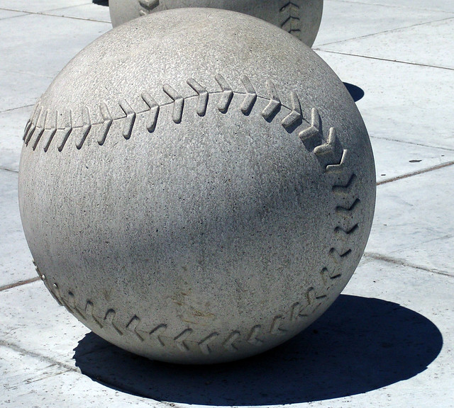 Large Concrete Ball Large Concrete Baseball In Mccovey