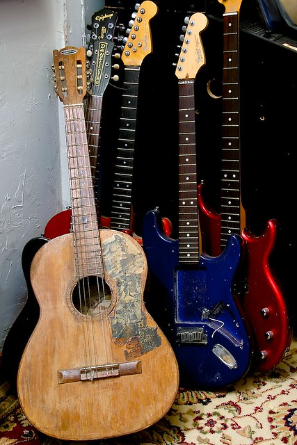 Old Guitars Old Broken Guitars The One In Front Is My