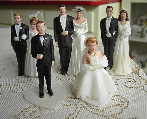 Vintage Wedding Cake Toppers   Wow did I luck out today  One      Flickr     Vintage Wedding Cake Toppers   by Ticklefeathers
