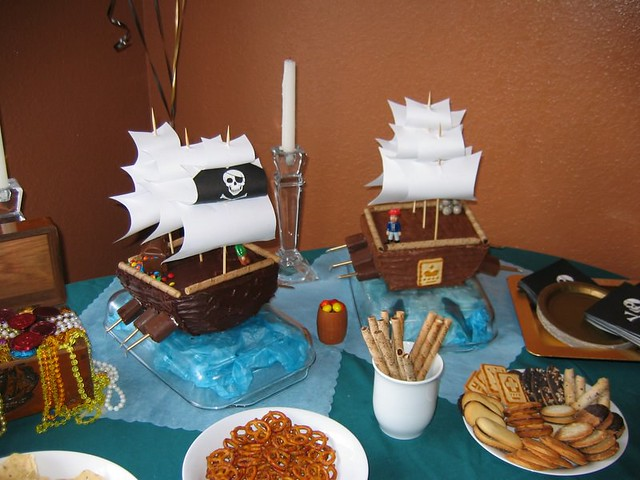 Oskar S First Birthday Pirate Ship Cake Rose Made