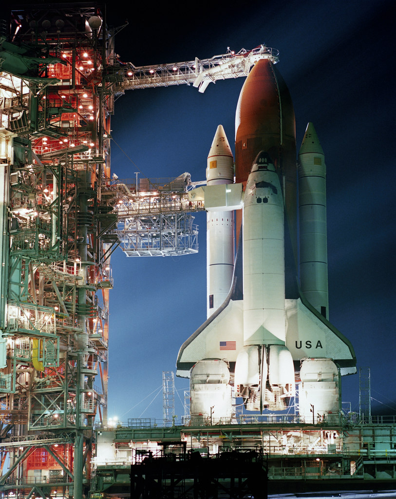 Sts 5 Space Shuttle Columbia Sits On Pad 39a At Kennedy