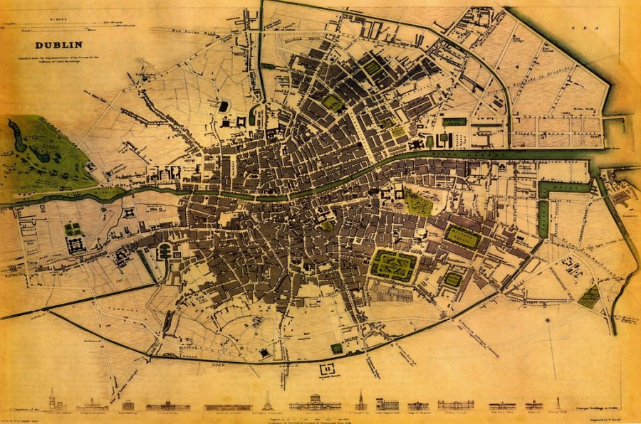 1800s Dublin   This is a scan of an old map of Dublin  it is      Flickr     1800s Dublin   by Dave Keeshan