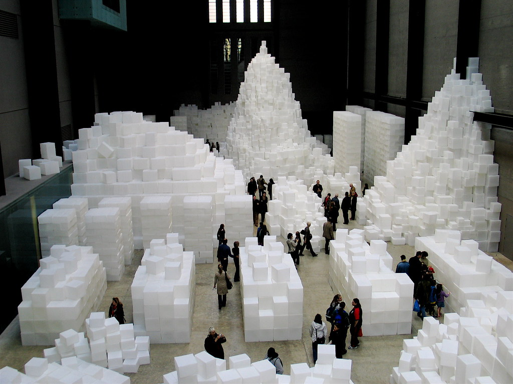 Big Sugar Cubes This Exhibit At The Tate Modern Looks