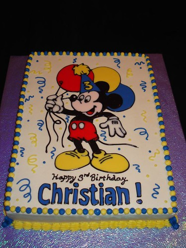 Mickey Mouse Birthday Cake Mickey Mouse Holding Balloons
