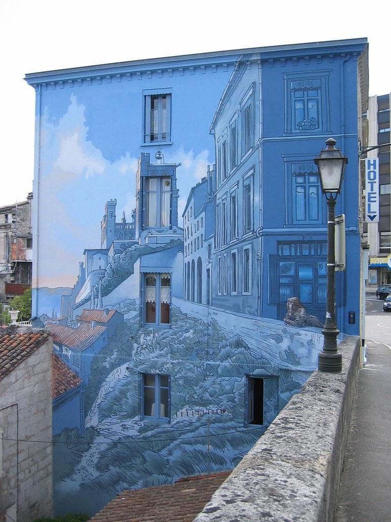 Angouleme Murals 18 Quot La Fille Des Remparts Quot D Apres Un