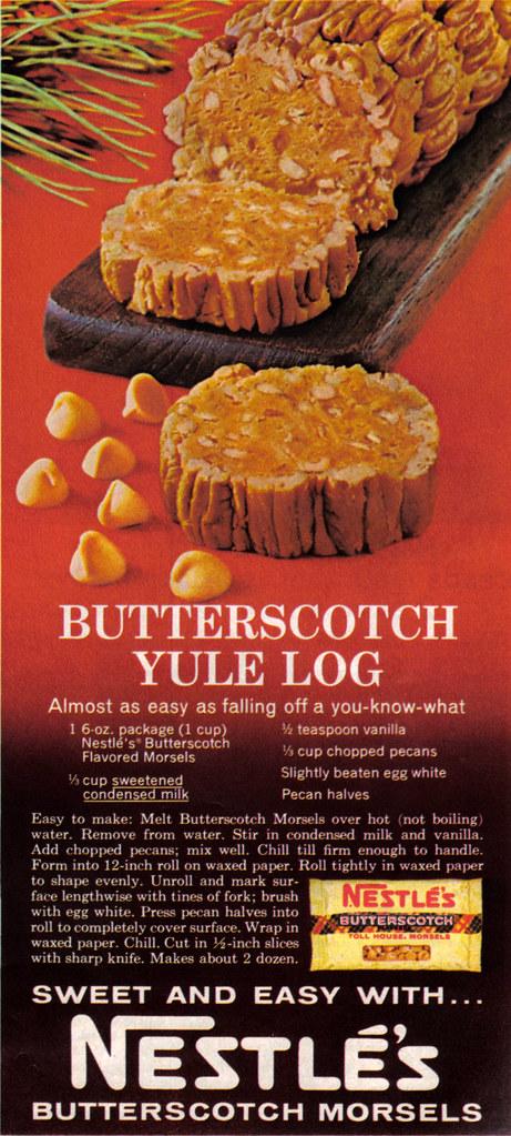 Vintage Ad 441 Nestle Butterscotch Yule Log Source