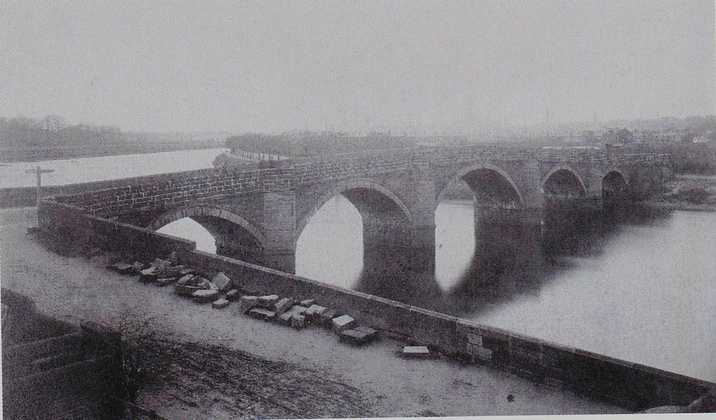 Old Penwortham Bridge Preston C 1863 Taken From