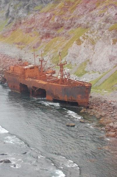 Shipwrecked Oduna | Ikatan Peninsula, Unimak Island ...