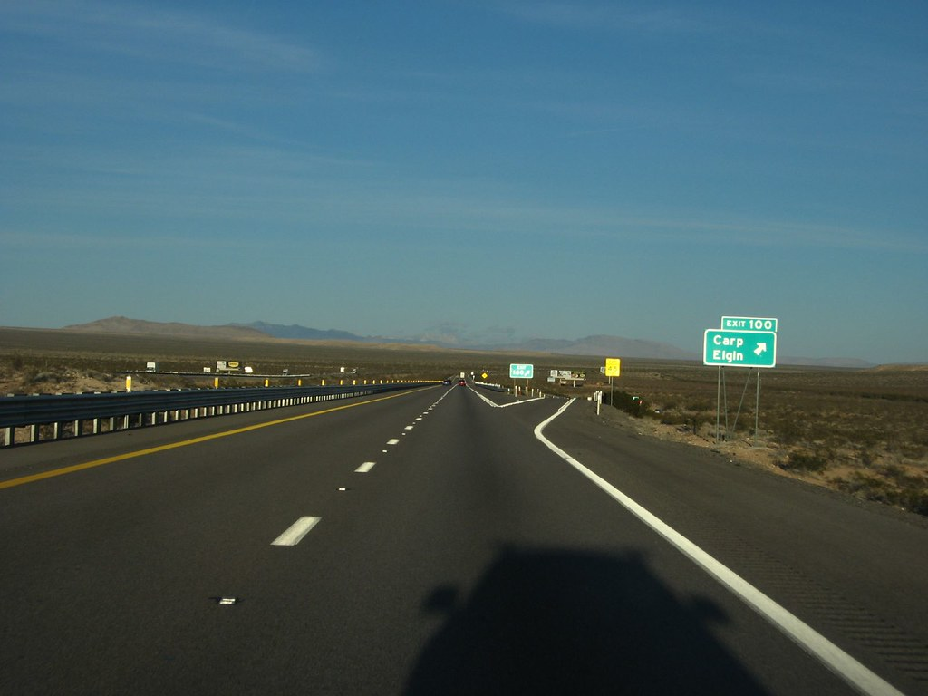 Elgin Carp Exit Interstate 15 Between Las Vegas Nevada A