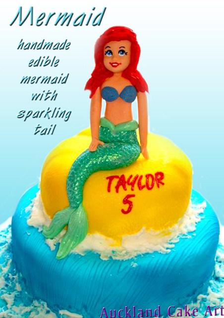 Mermaid Glitter Tail Birthday Cake All Edible Icing