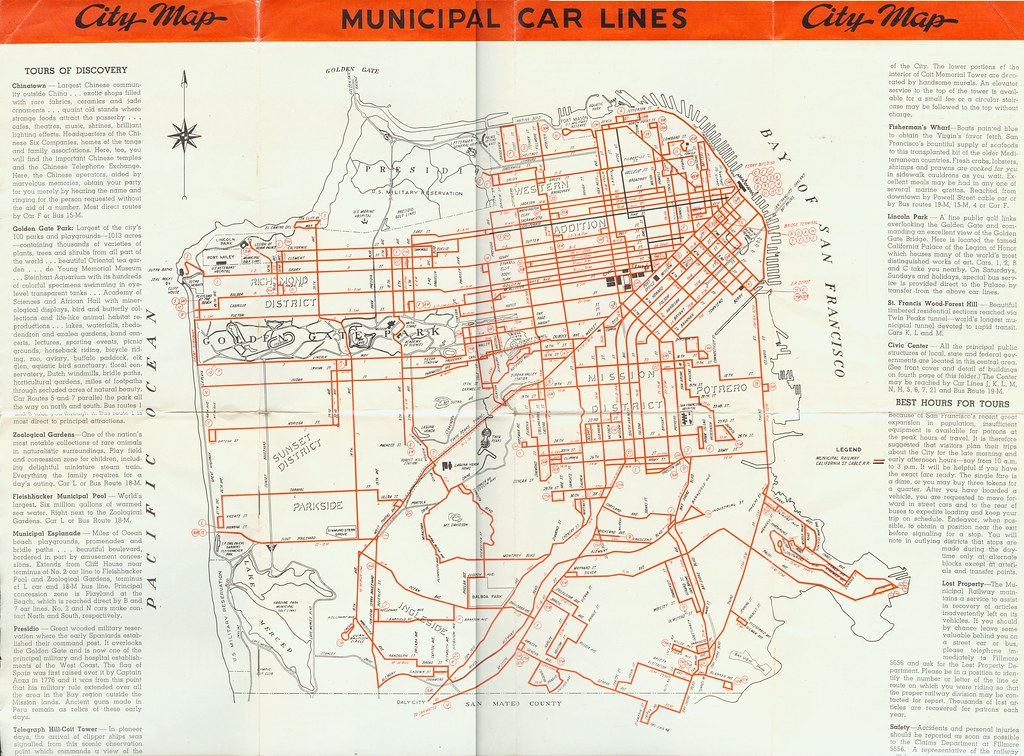 San Francisco Transportation Information Map Ground Transport