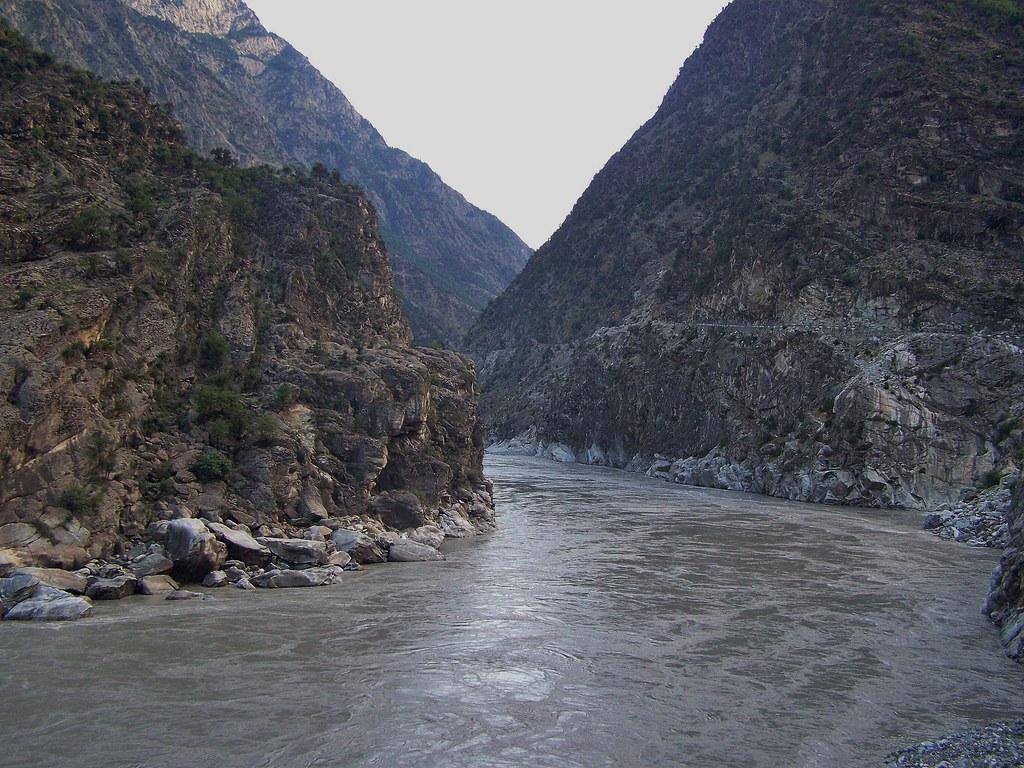 Indus River In District Kohistan Pakistan July 20009