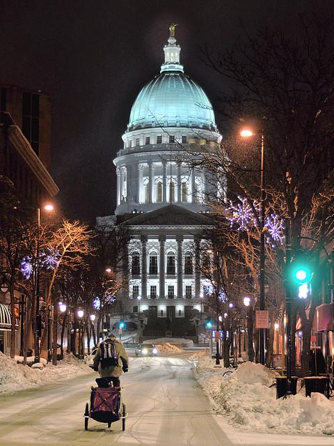 Winter Biking In Madison State Street Heading Toward The Flickr