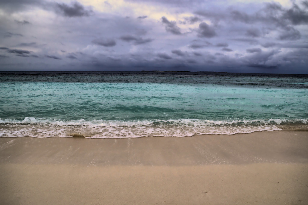 Empty Beach Dark Cloudy Day In The Maldives Neal Wilson Www Nealwilson Org Flickr