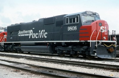 New Southern Pacific SD70M | A new SP wide-cab EMD is seen ...