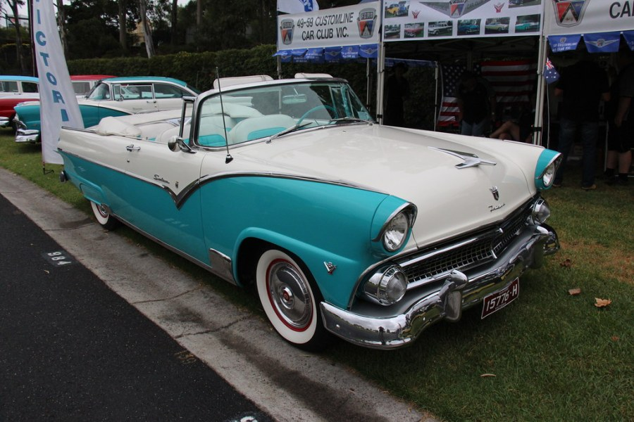 1955 ford cars » 1955 Ford Fairlane Sunliner Convertible   Aquatone Blue   Co      Flickr     1955 Ford Fairlane Sunliner Convertible   by Sicnag