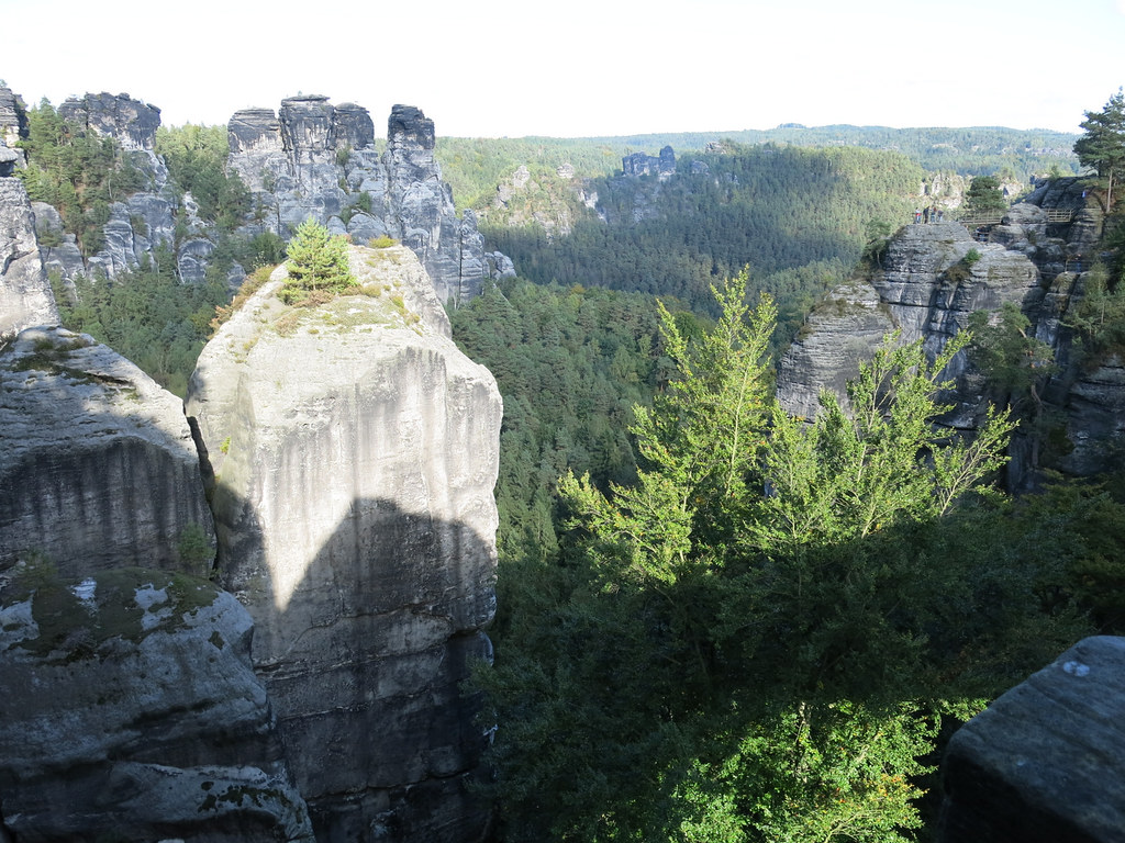 Elbe Sandstone Mountains Map