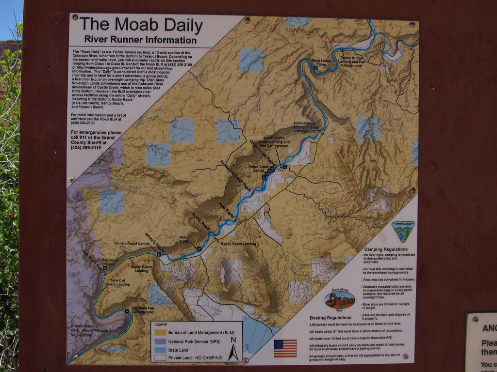 Moab Daily Map Rocky Rapid Colorado River Near Moab Ut Flickr