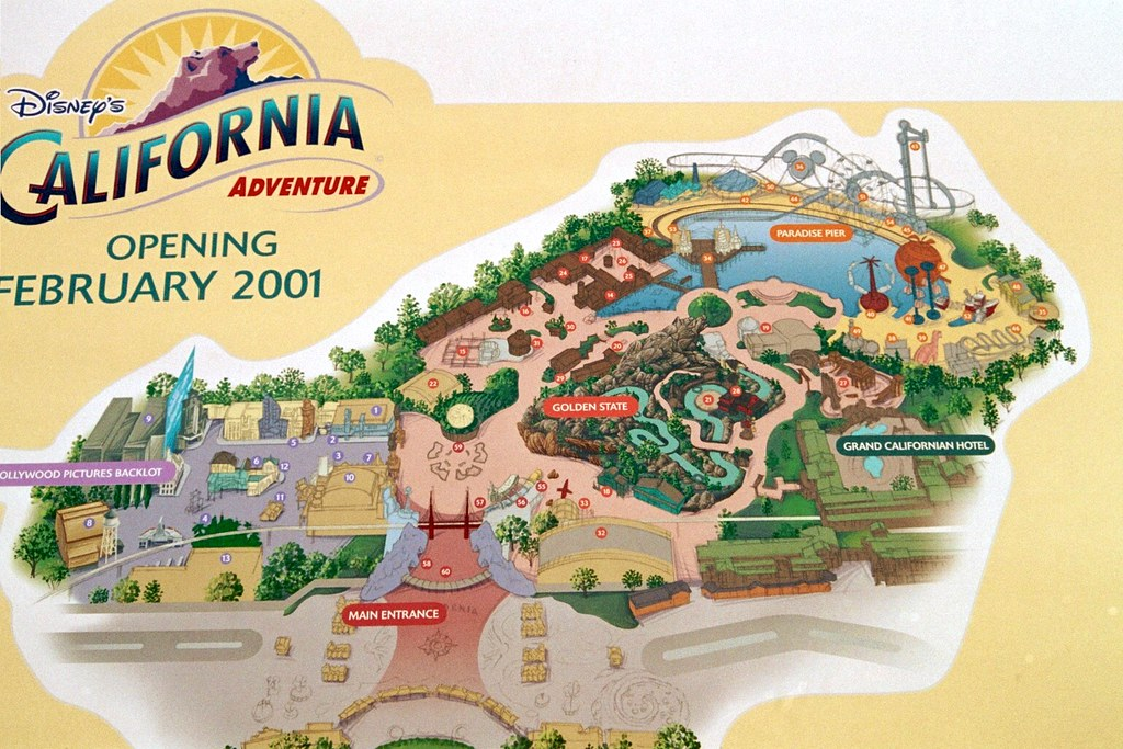 Disney California Adventure Layout Map in 2000   Before Worl      Flickr     Disney California Adventure Layout Map in 2000   by karlb