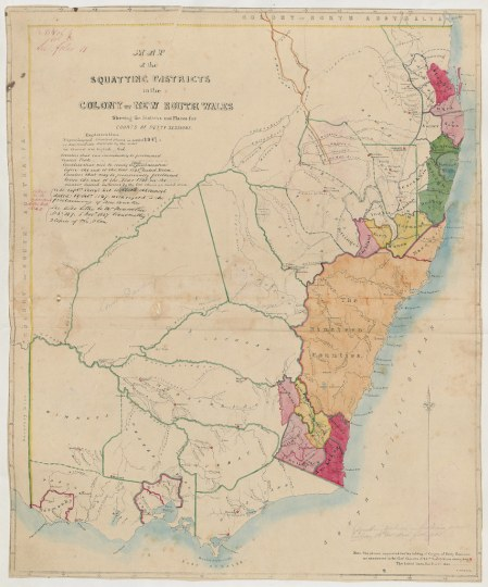 New South Wales   Map of the Squatting Districts in the Co      Flickr     New South Wales   Map of the Squatting Districts in the Colony of New  South Wales