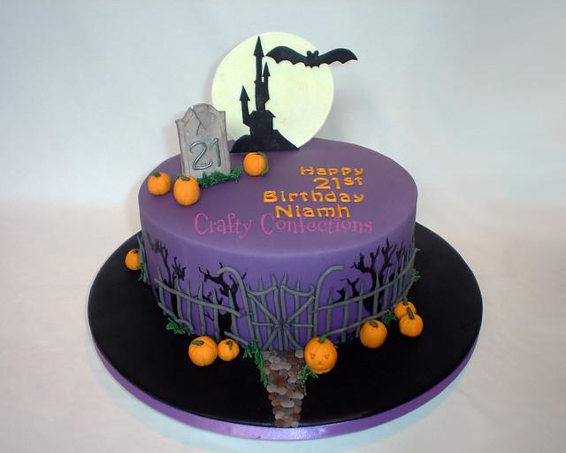 Halloween Themed 21st Cake Flickr Photo Sharing