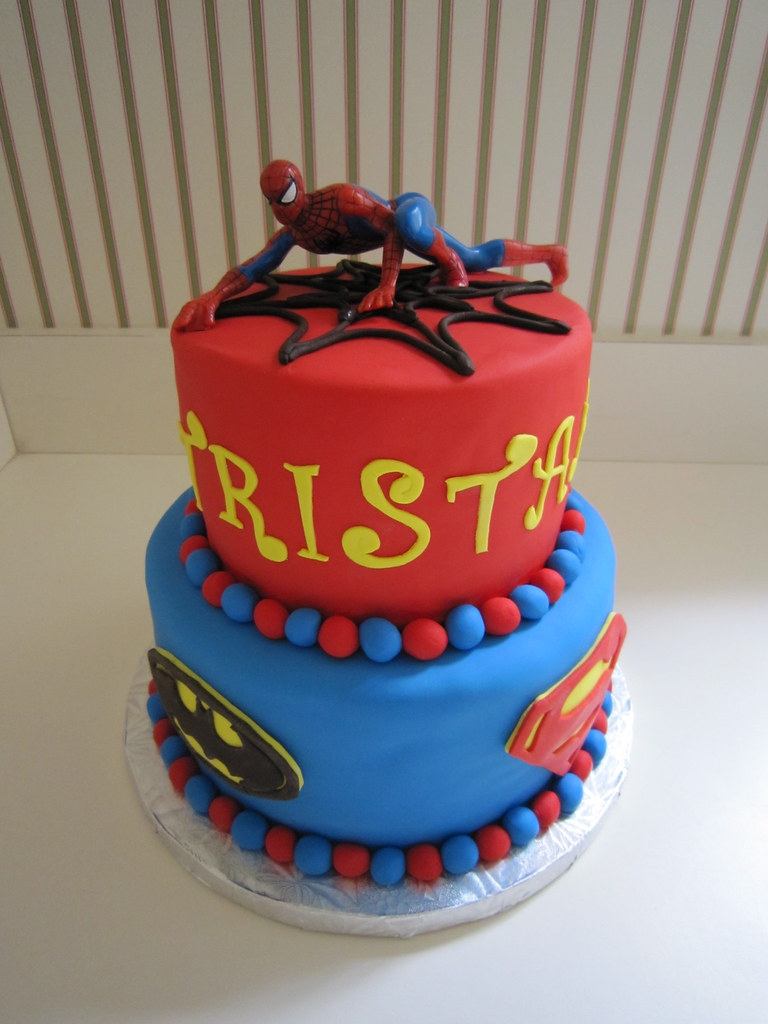 Super Heros Super Heros Two Tier Cake Even Though The