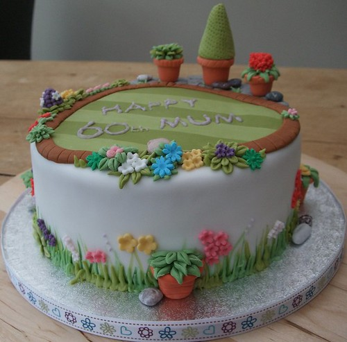 60th Garden Cake This Cake Was Heavily Inspired By Jo S